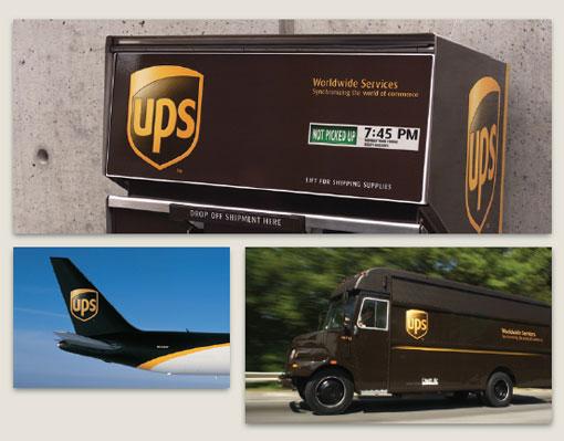 ups快递公司的logo标识设计高清图片