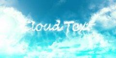 photoshop简单三步打造白云字体