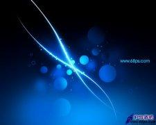 photoshop绘制蓝色光影壁纸