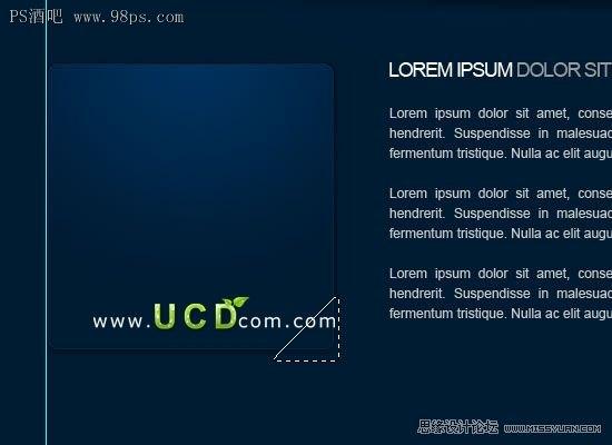 photoshop制作一款深蓝色的网页模板 3