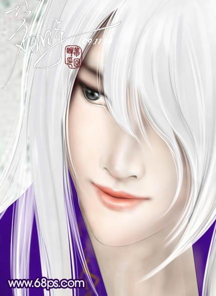 古装白发美男 古装白发美男漫画 古装白发美男手绘图