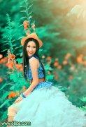 PS调出写真人物照片的甜美粉橙色调
