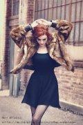 photoshop调出欧美模特照片的流行红褪色