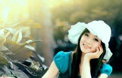 Photoshop调出柔美的日韩系青黄色调的美女图片