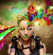 photoshop为时尚模特照片添加潮流彩妆