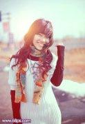 photoshop为外景写真美女图片添加温暖阳光色彩