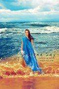 photoshop调出高清效果的海滩冷艳美女图片