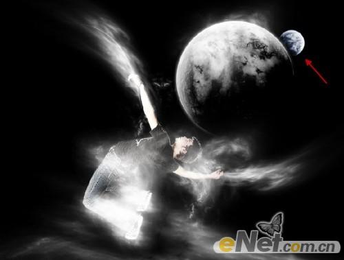 Photoshop合成制作梦幻的翱翔太空美景 2图片