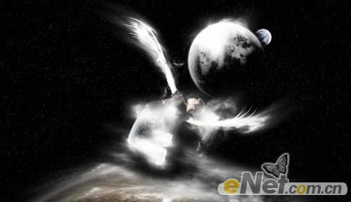 Photoshop合成制作梦幻的翱翔太空美景 4图片