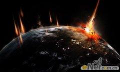 Photoshop合成制作陨石撞击星球主题海报