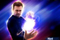 PS制作能量光球超人科幻海报场景