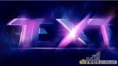 PS制作炫丽的紫色闪亮光线层叠文字效果