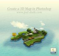 Photoshop制作一个3D地图实景