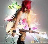 Photoshop打造动感美女歌手海报