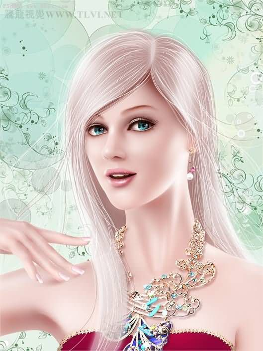 photoshopcs5鼠绘CG人物大全:头发的编发_高儿童蝴蝶结绘制教程简单漂亮图片