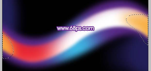 photoshop绘制色彩丰富的曲线光影壁纸背景 2