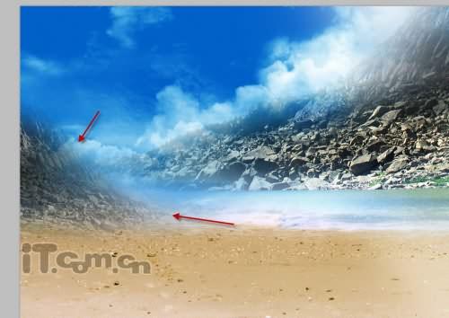 PS合成幻想世界中的沙滩美女 3