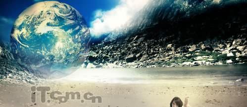 PS合成幻想世界中的沙滩美女 4