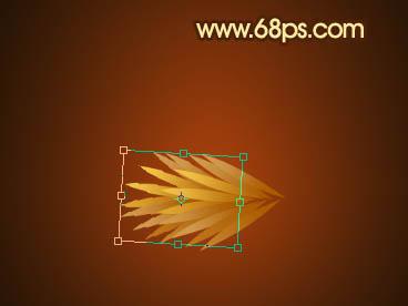 七,在树枝图层上方创建一图层,用钢笔画出P13的选区,选取渐变工