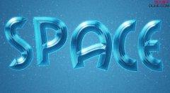 photoshop制作一款蓝色梦幻浮雕文字