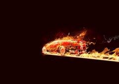 photoshop合成制作超酷的火焰汽车