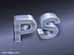 photoshop制作大气的金属质感3D立体字