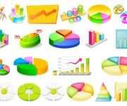 一组数据统计图表相关图标