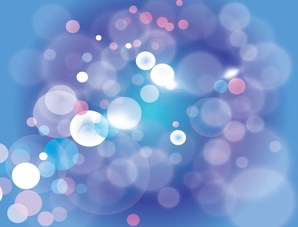 梦幻蓝紫色光斑光影 - ps酒吧