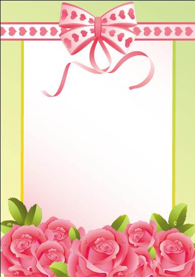 可爱的玫瑰桃心边框图片