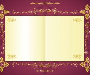 花纹亮钻点缀的漂亮相框