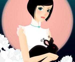 CQcat漂亮的MM插画