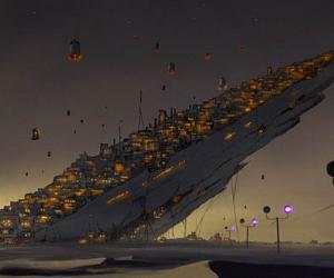GilbeyCG的独特空间幻想插画作品