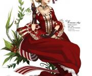 Harem的欧洲古典人物插画作品