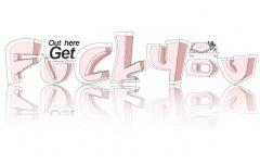 fuckyou英文艺术字体